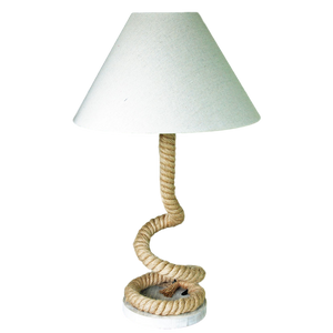 Salcombe natural jute rope table lamp