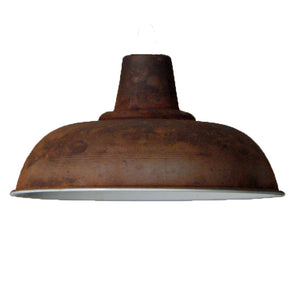 Vintage rusty iron ceiling 280mm pendant shade