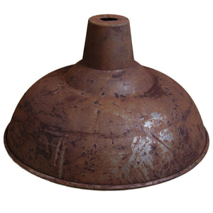 Highbury vintage retro rusty iron 360mm pendant ceiling shade