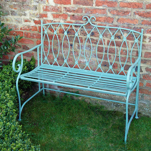 Edwin green metal garden bench