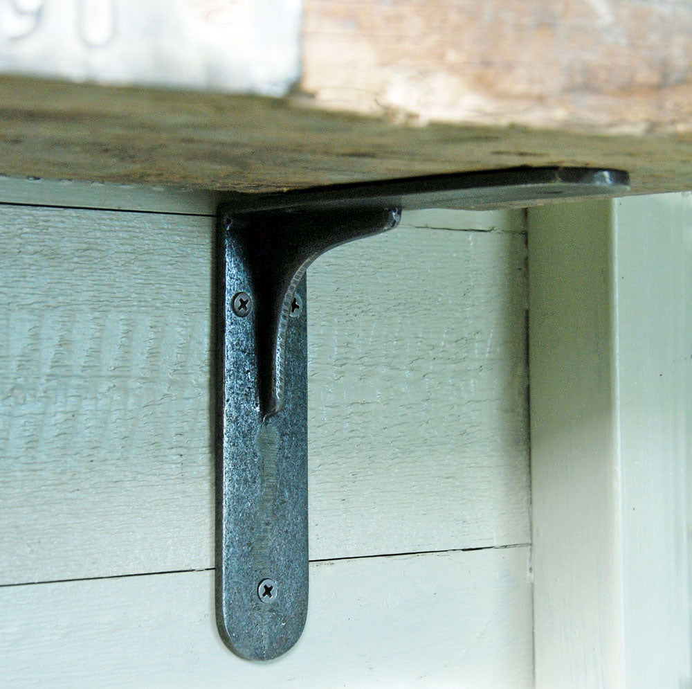 Stocksbridge factory cast iron wall shelf bracket