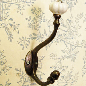 New England single metal coat hook