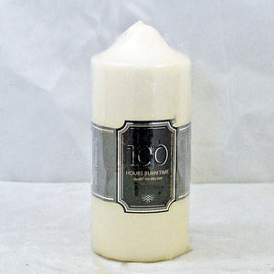 Church pillar candle 100 hour burn time non drip unscented classic