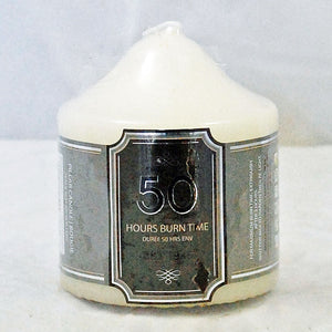 Church pillar candle 50 hour burn time non drip unscented classic