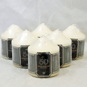 Pack Of 6 Church Candle 50 Hour Ivory Wedding Non Drip Candle Non Scented Classic Pillar