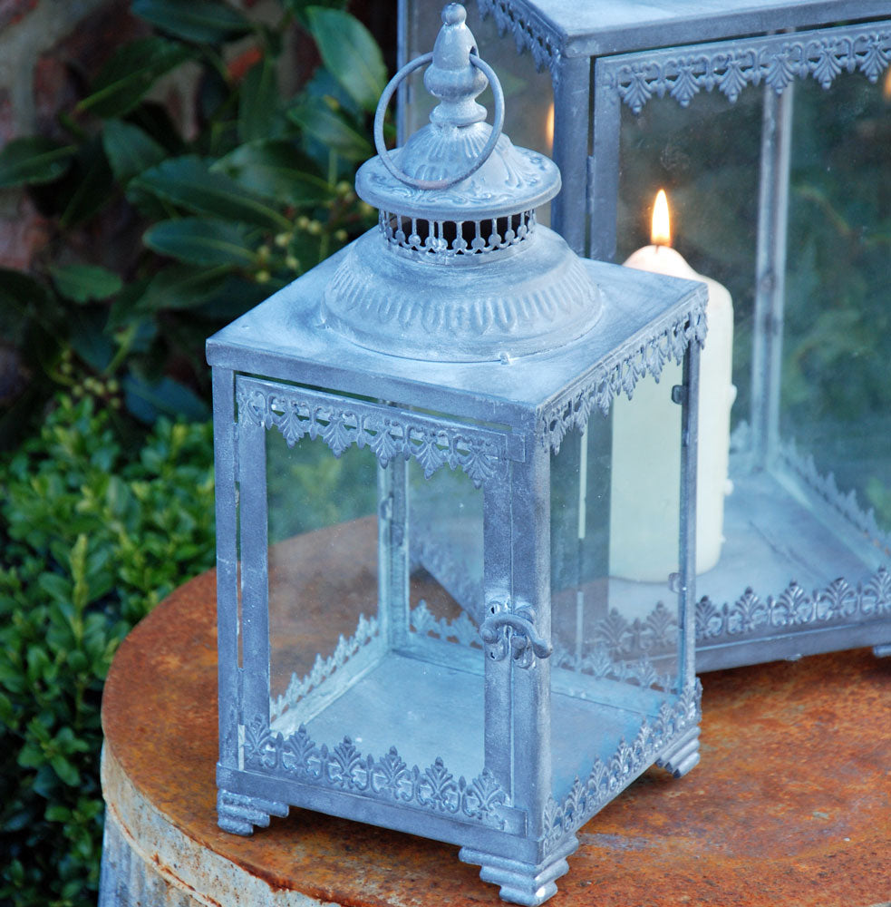 Italian terrace candle lantern for hanging or standing