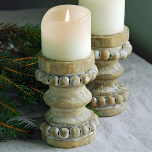 Small Wooden rustic candle holder