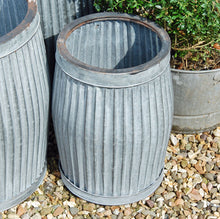 Small vintage style galvanised dolly planter