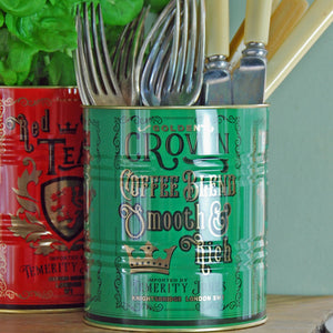 Small Golden Crown pub kitchen storage planter tin