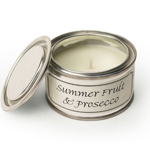 Pintail scented candle filled tin Summer fruit and prosecco fragrance