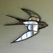 Deco vintage style flying swallow wall art