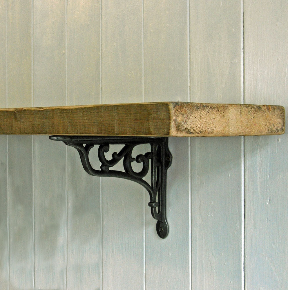 Simple Wooden Shelf with iron Hexham brackets