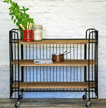 Hoxton vintage shelf storage cart
