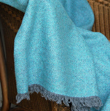 Recycled wool diamond weave throw available in 5 colourways