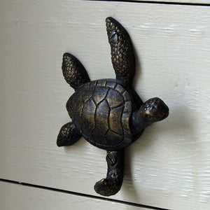 Timmy turtle antique metal single wall hook