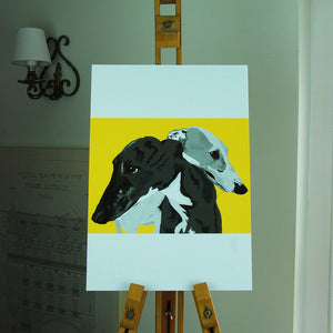 Greyhounds Portrait Poster Print