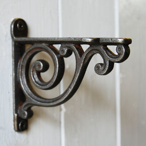 Victoria scroll cast metal decorative shelf bracket 100mm