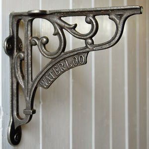 Cast metal vintage style Waterloo wall shelf bracket