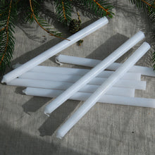 Danish white taper candle bundle