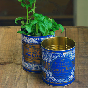 Small Willow Green Tea Plant Tin