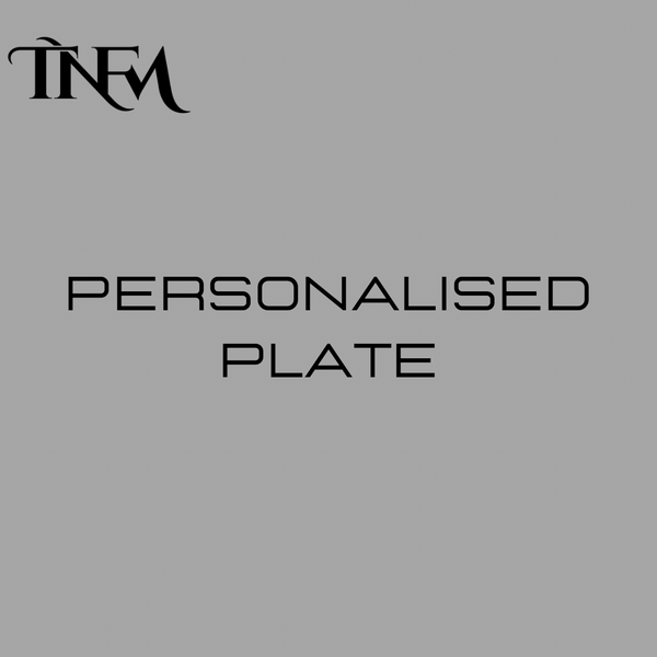 tranform uk personalised plate engraving initials gloss metal silver