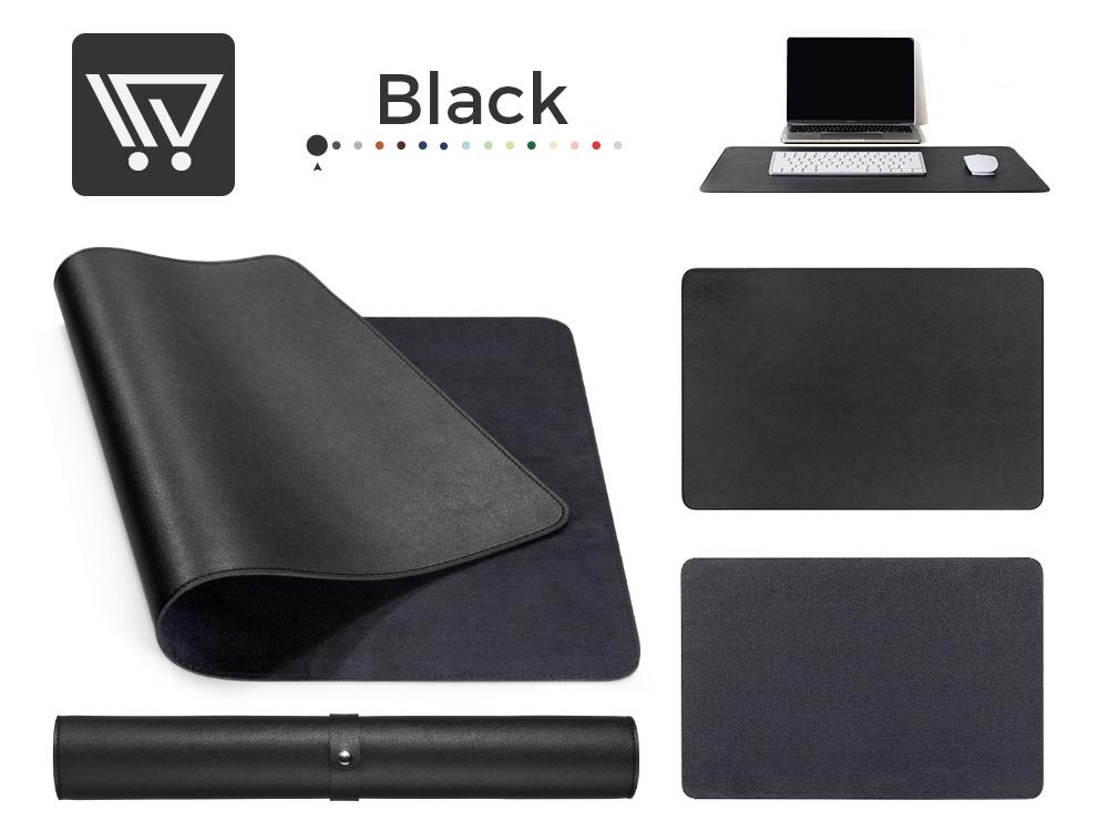 Eco-Leather Desk Mat (Large) Mousepads Wundercart Black 90X45cm