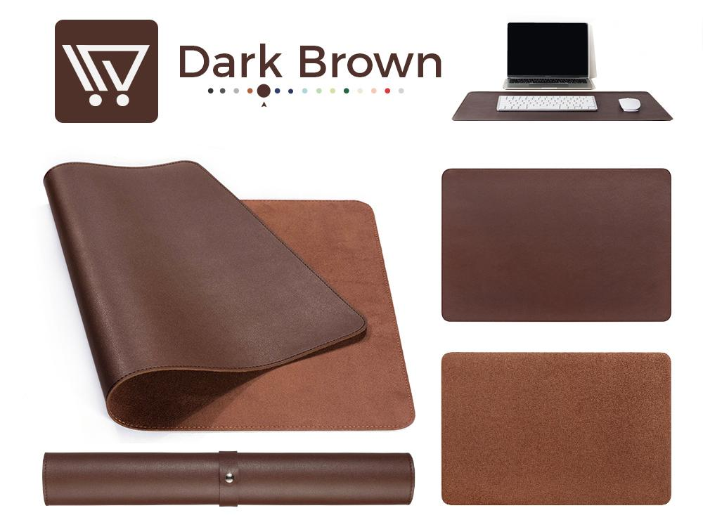 Eco-Leather Desk Mat (Large) Mousepads Wundercart Dark Brown 90X45cm