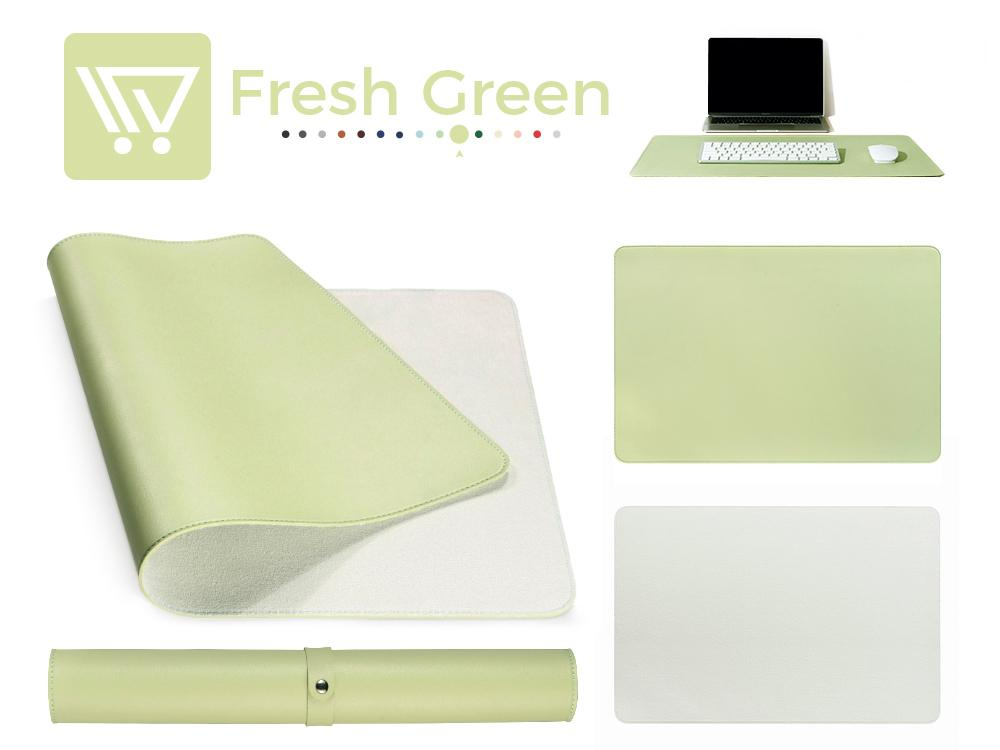 Eco-Leather Desk Mat (Large) Mousepads Wundercart Fresh Green 90X45cm