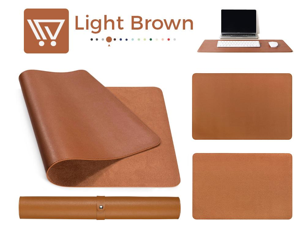 Eco-Leather Desk Mat (Large) Mousepads Wundercart Light Brown 90X45cm