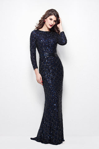 ab34060a6456cb Long Sleeve Sequin Gown | Judee's