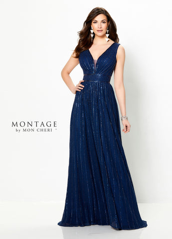 Sweeping Dreams A-Line Gown in Navy Blue
