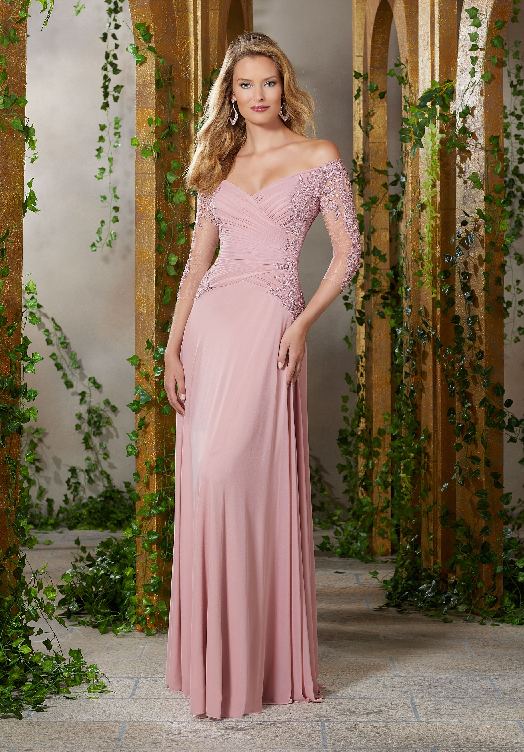 220b8e2b15e2 Madeline Gown in Rose | Judee's