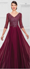 Ruby Tuesday Gown in Wine or Heather Gray