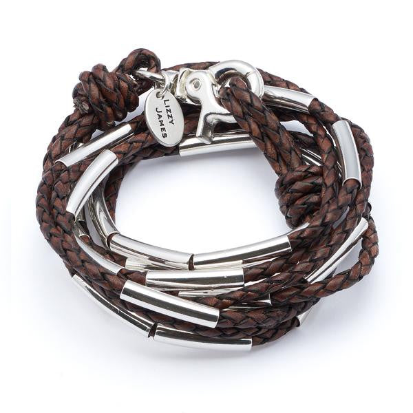 LIZZY JAMES ZOEY 3 Strand Silverplate Br  - GRY