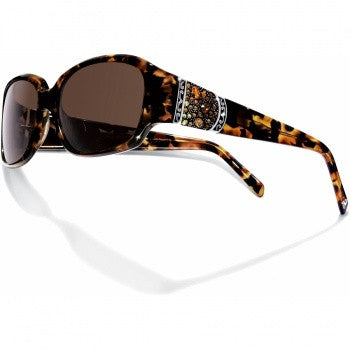Crystal Voyage Sunglasses, Brown - Judee's