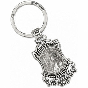 Devotion Joan Of Arc Key Fob, Silver - Judee's