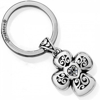Divinity Cross Key Fob, Silver