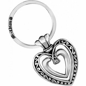 Ellington Heart Key Fob, SIlver
