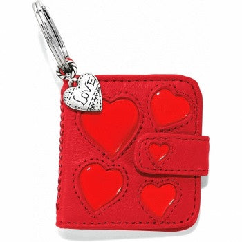 Hearts Galore Photo Key Fob, Red - Judee's