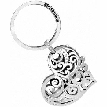 Madrid Heart Key Fob, Silver
