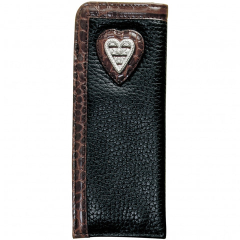 BRIGHTON Kashmir Heart Soft Readers Case, Black- Chocolate - Judee's