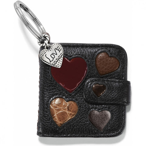 Hearts Galore Photo Key Fob, Black - Judee's
