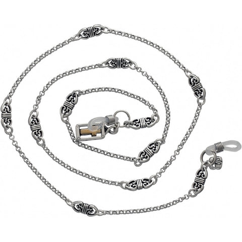 Eternity Cross Sunglass Chain, Silver - Judee's