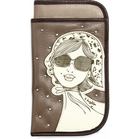 Flirt Double Eyecase, Tan