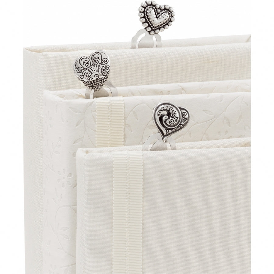BRIGHTON G90340 Heart Pagemarkers SIL - SIL