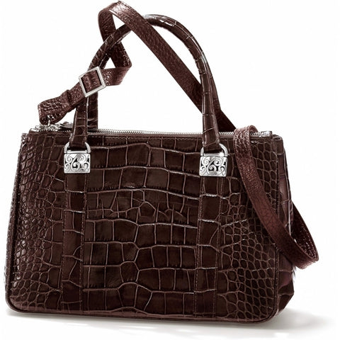 Emerson Croco Tote, Brown
