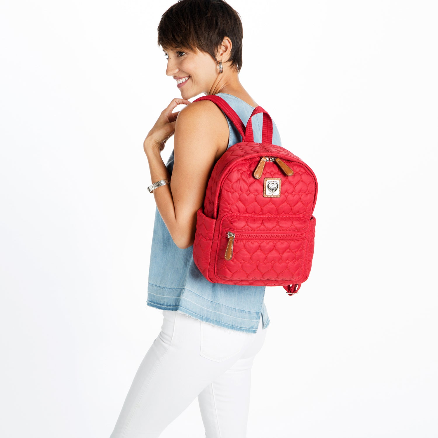Poppy Kingston Backpack  - RED