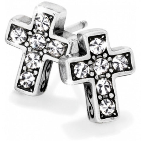 Starry Night Cross Mini Post Earrings - Judee's