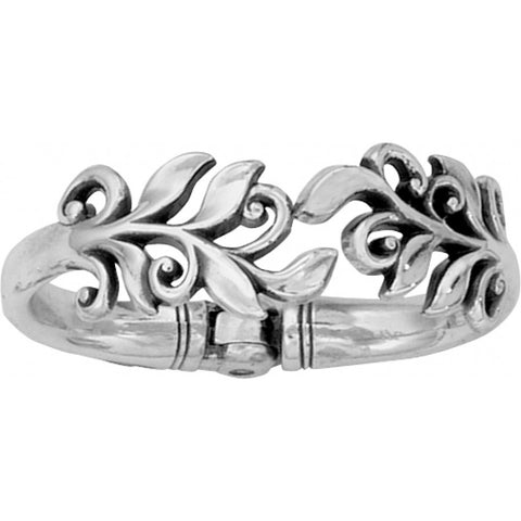 Silver Magnetic Hinged Bangle