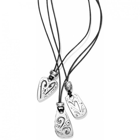 Multi-Charm Necklace Silver